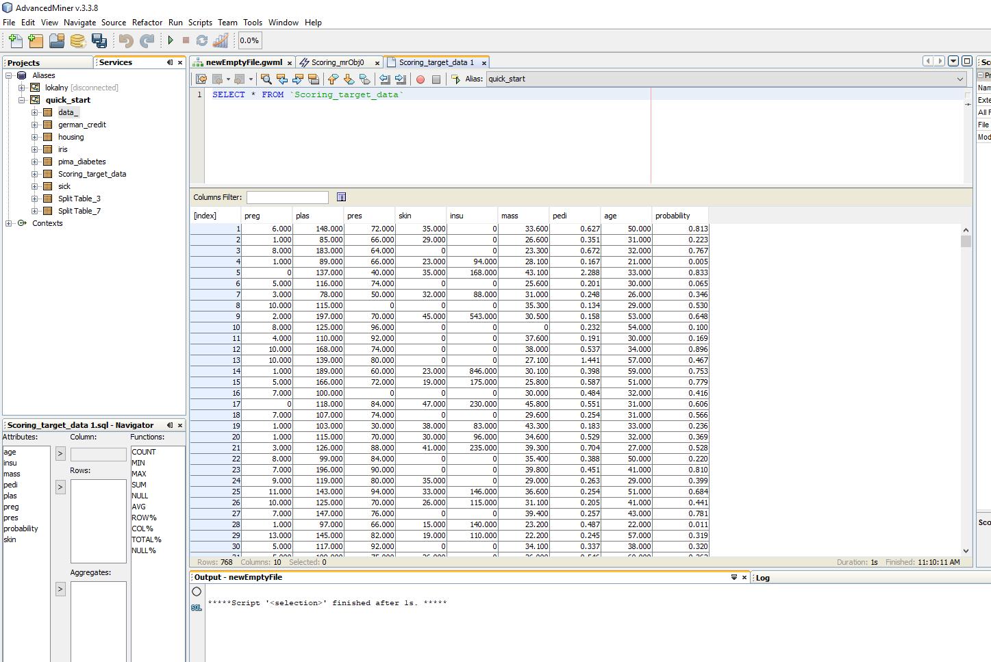 Budowanie modeli predykcyjnych w programie AdvancedMiner - 30