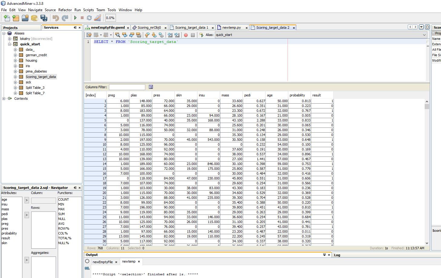 Budowanie modeli predykcyjnych w programie AdvancedMiner - 32