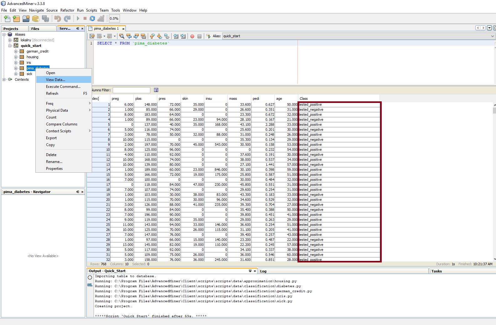 Budowanie modeli predykcyjnych w programie AdvancedMiner - 5