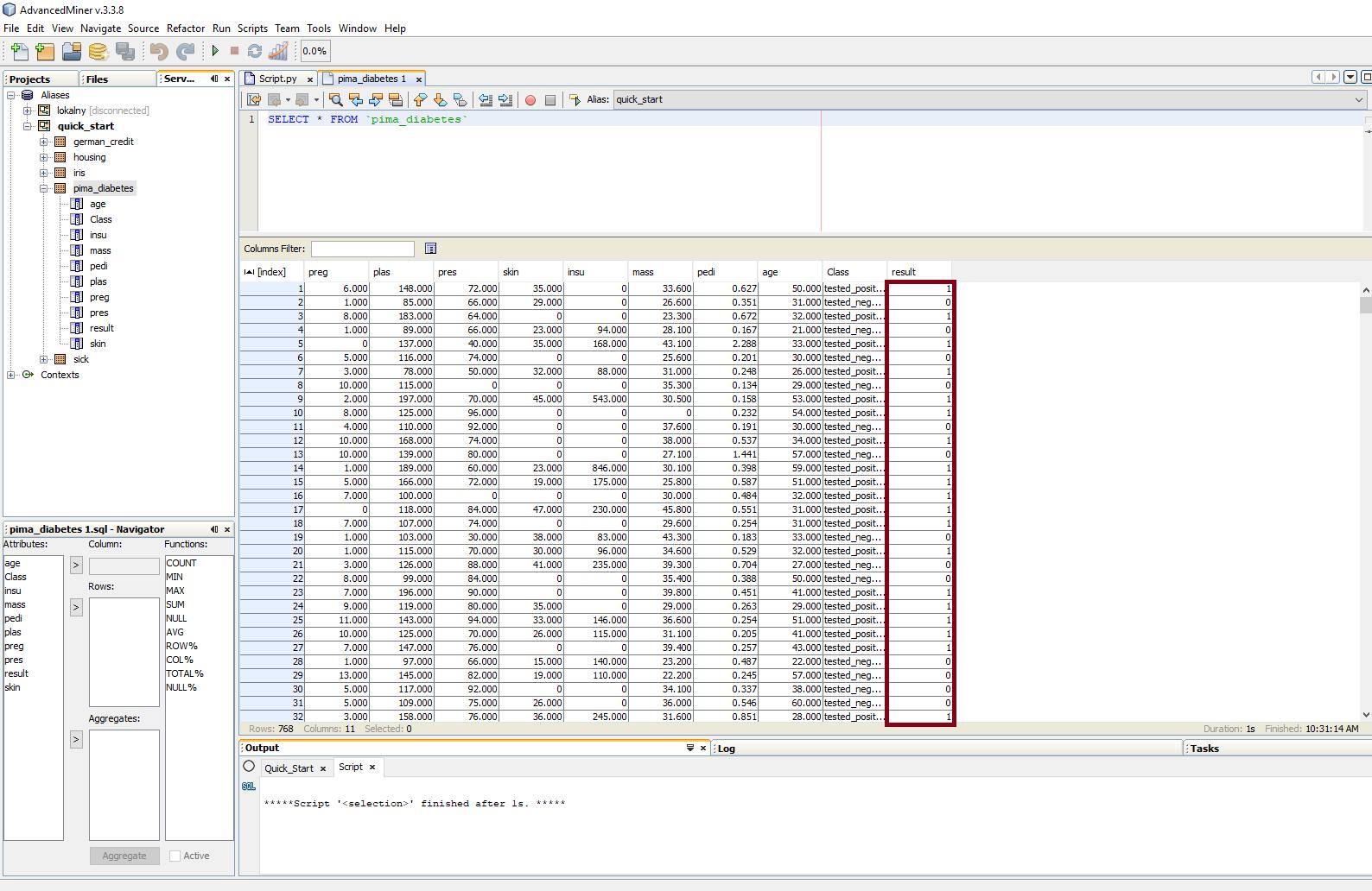 Budowanie modeli predykcyjnych w programie AdvancedMiner - 8