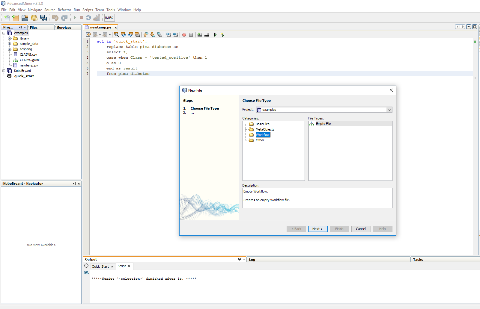Building predictive models in AdvancedMiner - 10